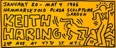 Keith Haring illustrated 1986 announcement (Keith Haring posters)