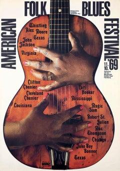 American Folk Blues Festival poster 1969 by Gunther Kieser