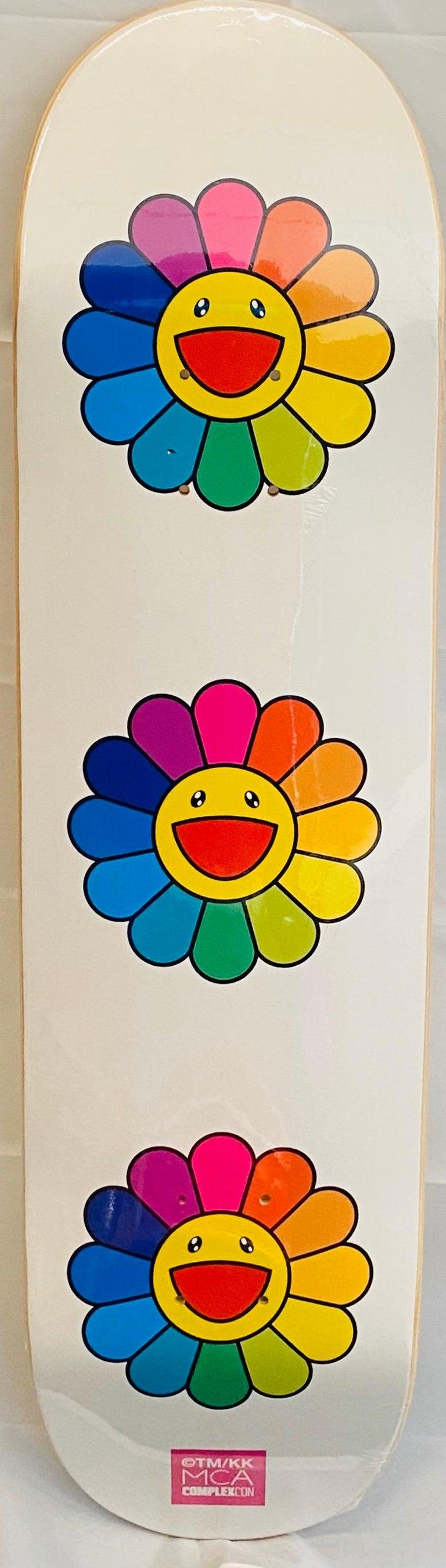 Murakami Flowers Skateboard Deck  - Print by Takashi Murakami