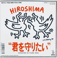 Rare Original Keith Haring Vinyl Record Art (Keith Haring Hiroshima)