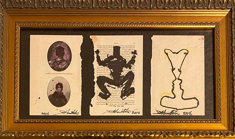 Richard Hambleton Drawings: set of 3, hand-signed (Richard Hambleton Shadowman)  - Mixed Media Art by Richard Hambleton