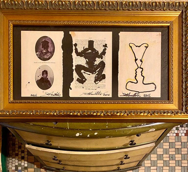 Richard Hambleton Drawings: set of 3, hand-signed (Richard Hambleton Shadowman)  - Pop Art Mixed Media Art by Richard Hambleton