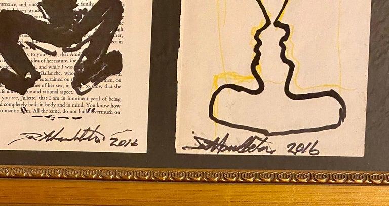 Richard Hambleton Drawings: set of 3, hand-signed (Richard Hambleton Shadowman)  For Sale 2