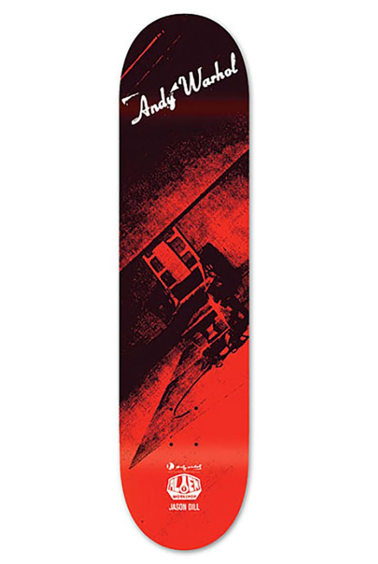 Andy Warhol skateboard deck (Warhol Electric Chair Skate Deck new)
