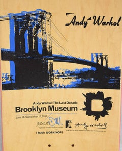 Warhol Brooklyn Bridge Skateboard Deck (Brooklyn Museum)