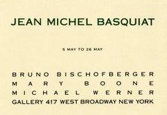 Basquiat at Bruno Bischofberger Mary Boone gallery