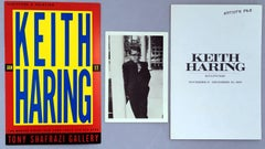 Keith Haring at Tony Shafrazi Gallery (set of 3 vintage Haring collectibles)