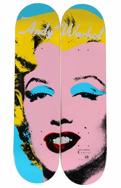 Warhol Marilyn Skateboard Decks set of two (Marilyn diptych)