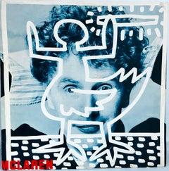 Original Keith Haring 1980s Record Art