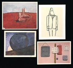 Philip Guston set of four 1980s exhibition announcements