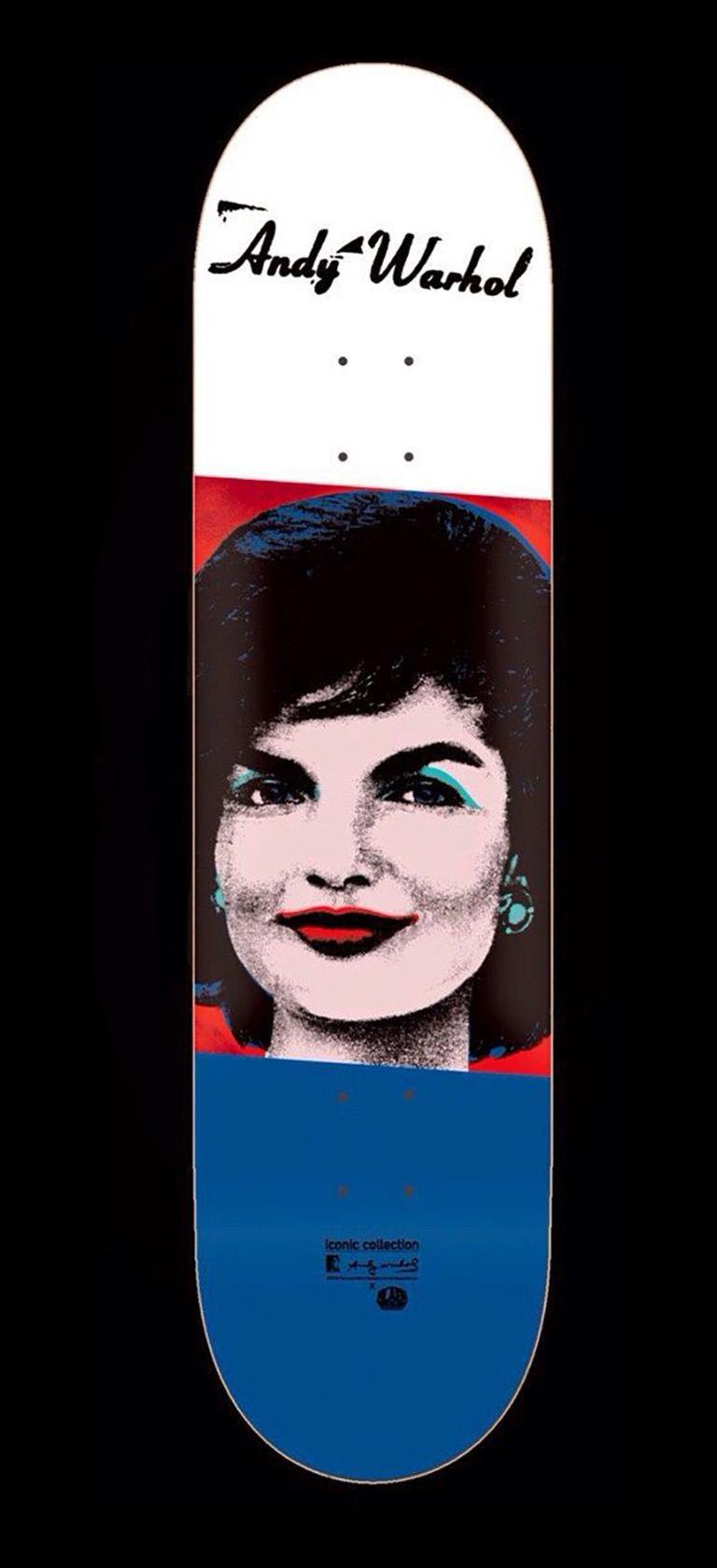 Andy Warhol skateboard deck (Warhol Jackie skate deck)