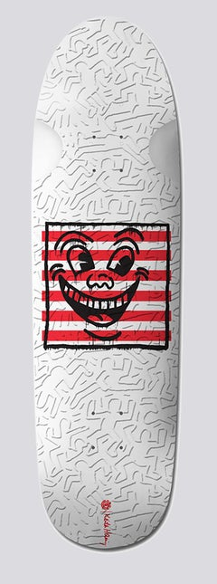 Keith Haring Smiley Face Skateboard Deck