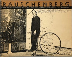Signed Robert Rauschenberg exhibition catalog (Gagosian 1986)