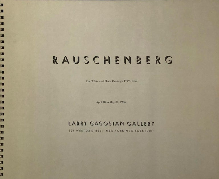 Signed Robert Rauschenberg exhibition catalog (Gagosian 1986) For Sale 1