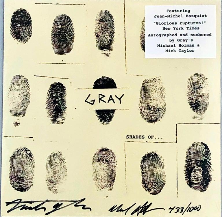 Basquiat Gray vinyl record signed (Basquiat Record Art) For Sale 2