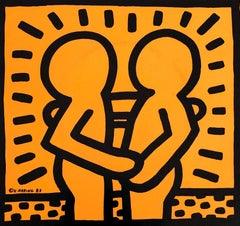 Rare Original Keith Haring Vinyl Record Art