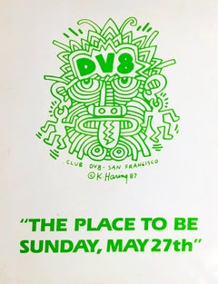 Keith Haring Club DV8 (set of 2 1980s announcements)