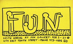 """Keith Haring at Fun Gallery"" New York 1983"