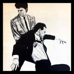 Rare Original Robert Longo Vinyl Record Art (Men In The Cities)