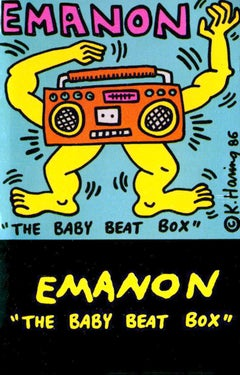 Rare Original Keith Haring album art (Keith Haring boombox cassette)