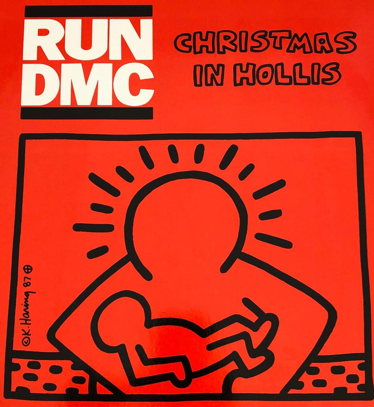 Rare Original Keith Haring Vinyl Record Art (Keith Haring Run Dmc)