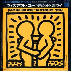 Rare Original Keith Haring record cover art (David Bowie)