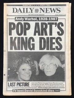 Warhol Dies! Set of 5 NY Newspapers