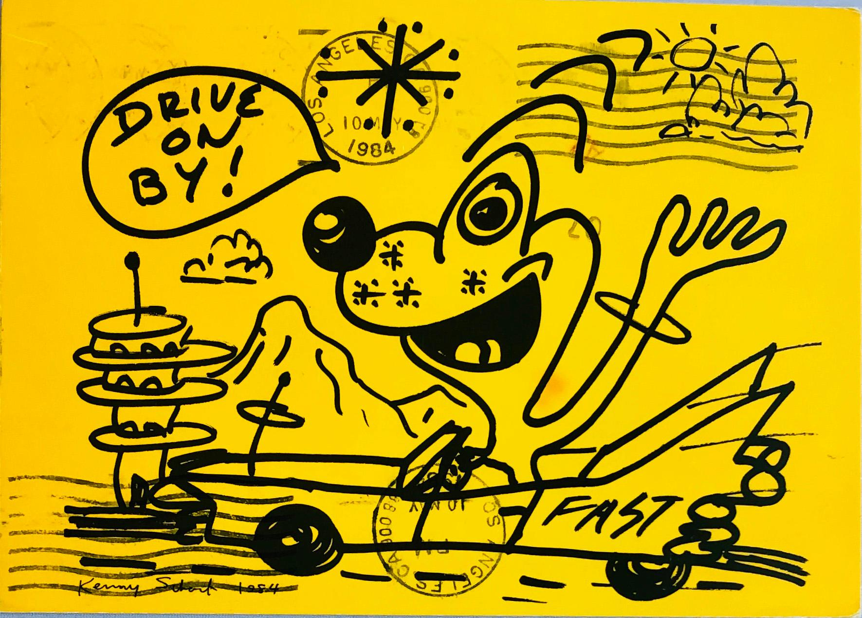 Kenny Scharf at Gagosian Gallery 1984 (vintage Kenny Scharf)