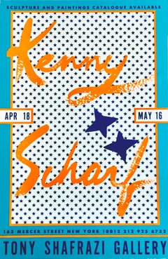 Kenny Scharf at Tony Shafrazi Gallery 1987 (vintage Kenny Scharf)