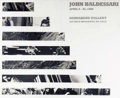 Vintage John Baldessari exhibition poster (John Baldessari at Sonnabend NY 1986)
