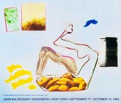 Vintage John Baldessari exhibition poster (John Baldessari at Sonnabend NY 1994)