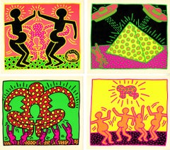 Keith Haring Fertility: set of 5 announcements 1983