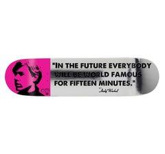 Warhol 15 Minutes of Fame skateboard deck (Warhol self portrait)
