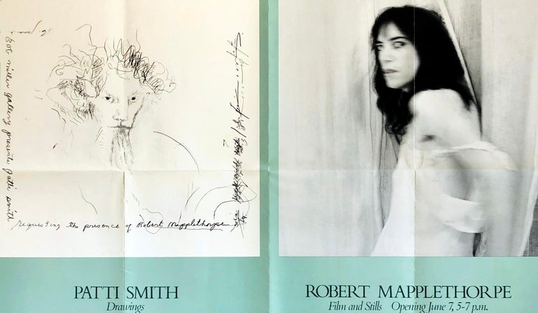 Robert Mapplethorpe Patti Smith 1978 exhibit poster  1