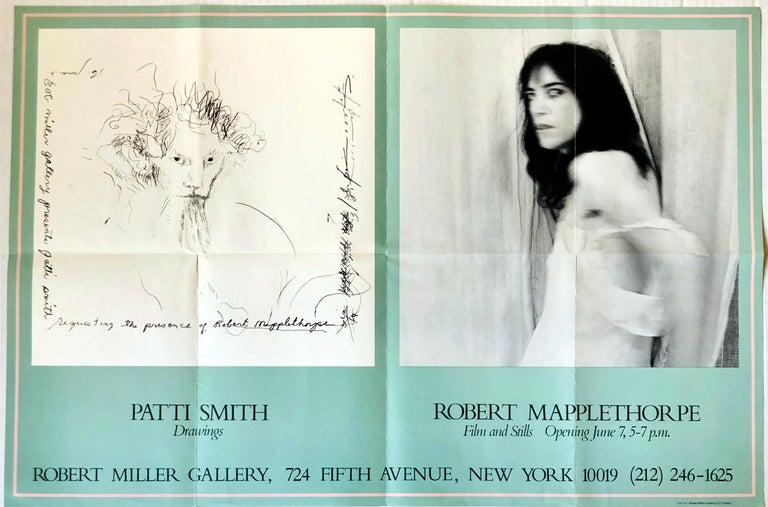 Robert Mapplethorpe Patti Smith 1978 exhibit poster  - Print by (after) Robert Mapplethorpe