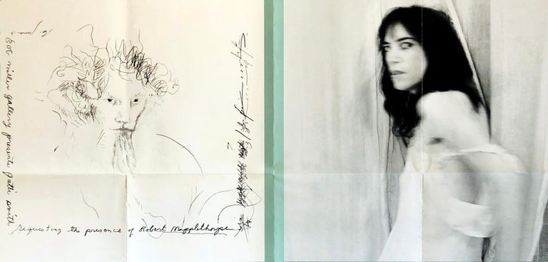 Robert Mapplethorpe Patti Smith 1978 exhibit poster  - Pop Art Print by (after) Robert Mapplethorpe