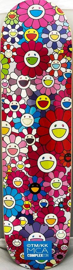 Takashi Murakami Flowers Skateboard Deck
