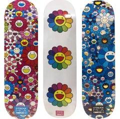 Takashi Murakami Flowers Skateboard Decks (set of 3)