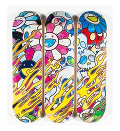 Takashi Murakami Skateboard Decks (set of 3)