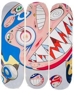 Takashi Murakami DOB Skateboard Decks (Set of 3 Murakami skate decks)