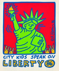 Keith Haring Citykids 1986 (sticker)