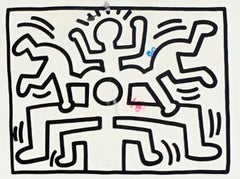Keith Haring 1988 announcement card (Vintage Keith Haring)