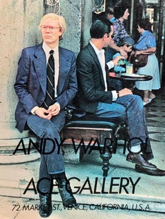Vintage Andy Warhol Ace Gallery advertisement (Warhol posters)