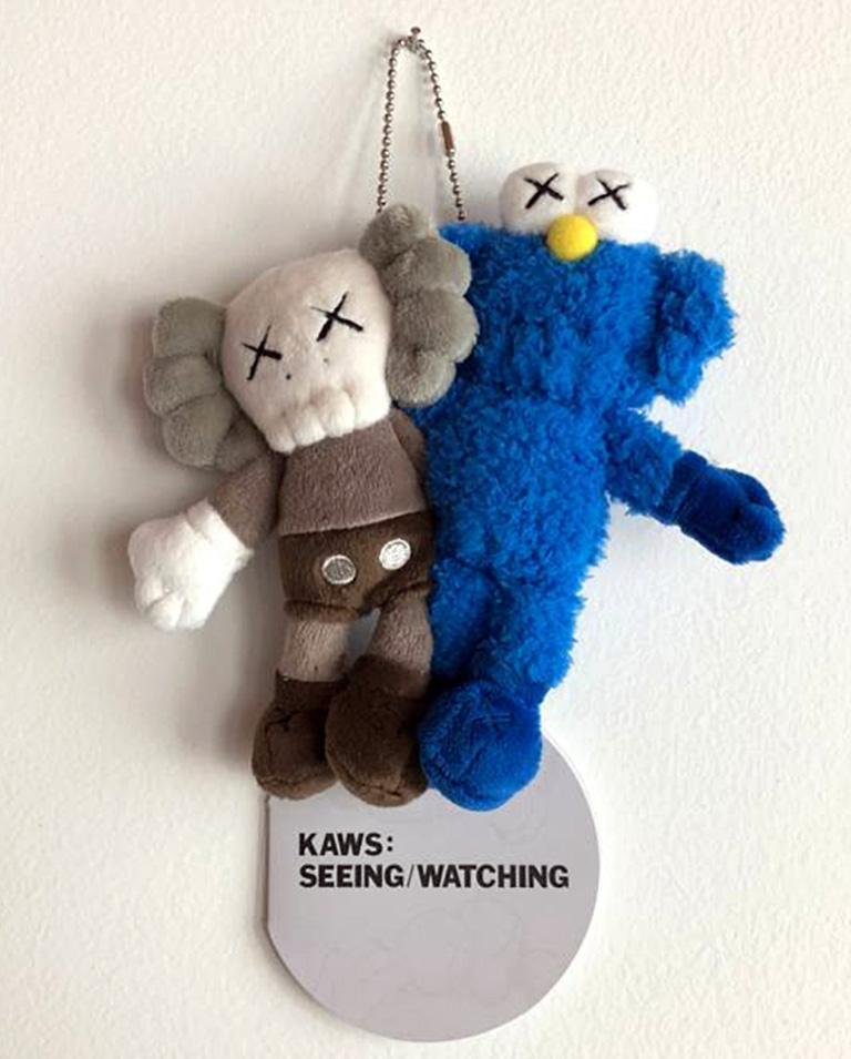 KAWS Seeing/Watching keychain (KAWS plush)  - Street Art Print by KAWS