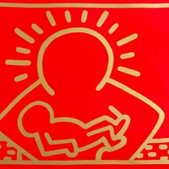 Vintage Keith Haring Vinyl Album Art (Keith Haring Christmas)