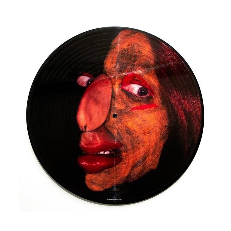 Cindy Sherman Vinyl Record Art: Published by Visionaire Fashion, 2007. Off-set print on vinyl record. Unsigned.  12 x 12 inches. Excellent Condition. A very cool frame piece.   Related Categories Photography. Nan Goldin.