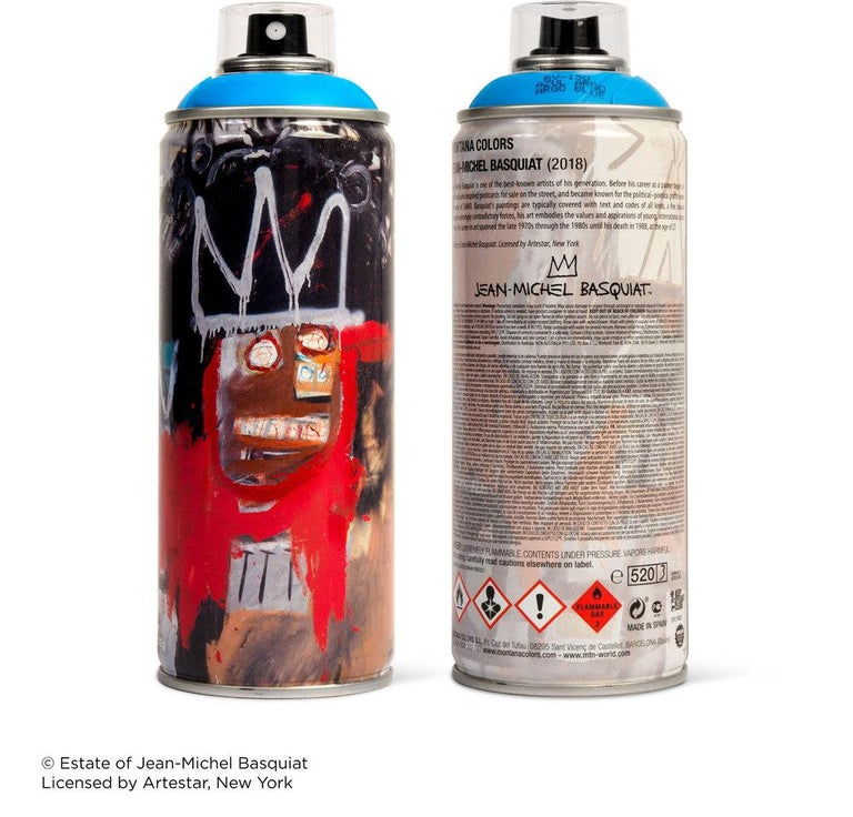 Limited edition Basquiat spray paint can - Street Art Mixed Media Art by after Jean-Michel Basquiat