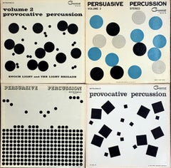 Josef Albers vinyl record art (set of 4)