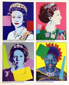 Warhol Reigning Queens announcement 1985 (Warhol at Leo Castelli)
