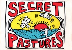 Keith Haring Secret Pastures announcement (Keith Haring prints posters)